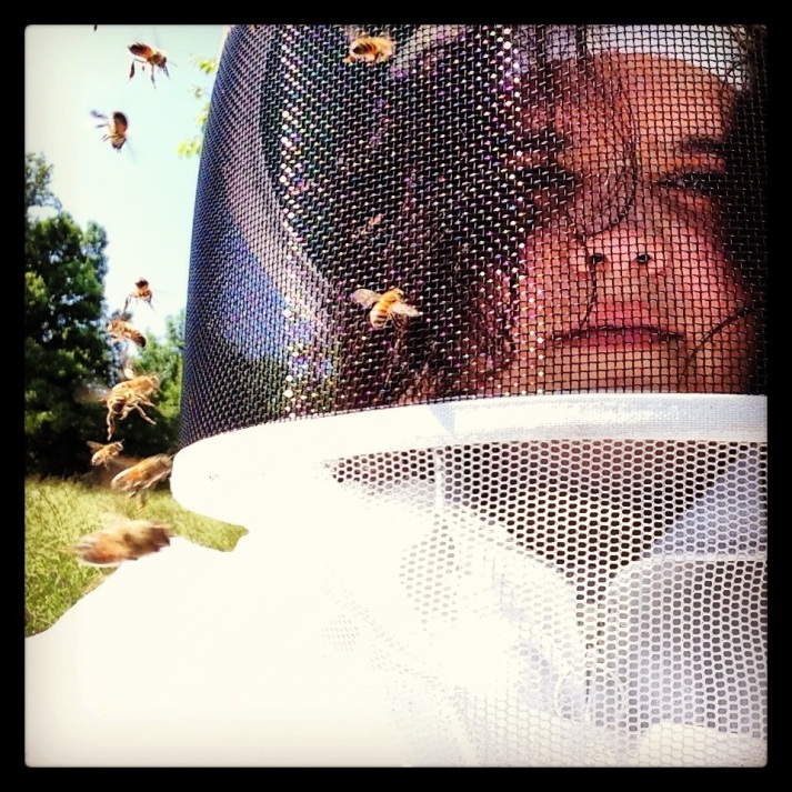 Thank goodness for bee suit